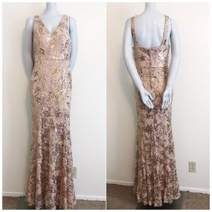 City Triangles Champagne Prom Dress DB5